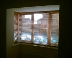 Window Blinds Chester Wooden Venetian Blinds Installed In Square Bay Window New Home