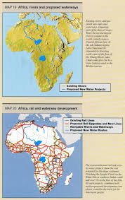 Africa Map Rivers Maps Of Great Infrastructure Projects Page 1 Schiller Institute