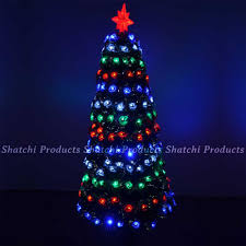 5ft 150cm led pre lit fibre optic christmas tree frosted tips xmas