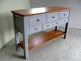 side table side board table amazing kitchen console with ft pine