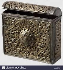 a gilded silver ottoman cartridge box circa 1800 a rectangular