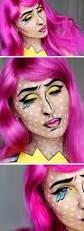 halloween cartoon pop art makeup tutorial hiilen sminblogg