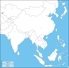 Printable Blank World Map by South And East Asia Free Map Free Blank Map Free Outline Map