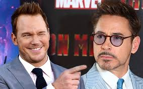 Chris Pratt Meme - robert downey jr chris pratt banter over hilarious meme kiis