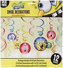 Spongebob Centerpiece Decorations by Spongebob Squarepants Party Hanging Decorations Ebay