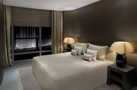 interior excellent field drab modern hotel bedroom featuring