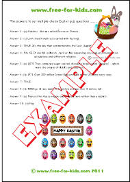 easter facts trivia easter quiz questions for children