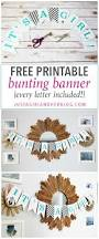 free printable bunting banner just a and her blog