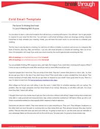 sample of cold cover letter