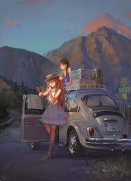 volkswagen beetle background anime girls mountains car volkswagen beetle wallpapers hd