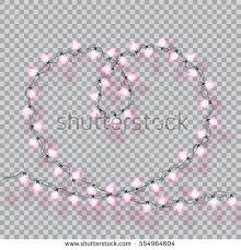 s day decorations garlands valentines day decorations lights effects stock vector