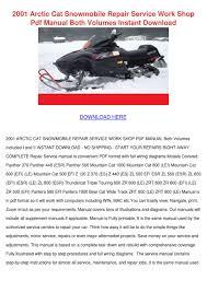 arctic cat snowmobile service manual repair 2001 all 2950 28
