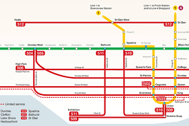 Ttc Map New Ttc Map Combines Subway And Streetcar Routes