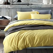 solid full queen size quilt cover yellow bedding sets