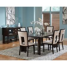 Dining Room Furniture Sets by Steve Silver 6 Piece Victoria Dining Table Set With Bench Mango