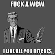 Threesome Memes - fuck a wcw i like all you bitches grammar guy meme generator