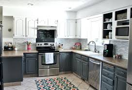 traditional dark brown cabinet light gray kitchen cabinets grey