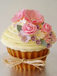 giant vintage flowers cupcake picture for little party cake blog