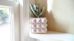 geometric planter hostess gift succulent planter desk planter