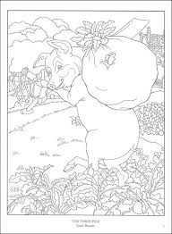 color fairy tale illustrations coloring book