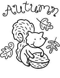 coloring pages of autumn autumn animal squirrel coloring pages batch coloring