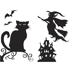 halloween silhouette clipart printable halloween themed papers for window decoration u2013 festival