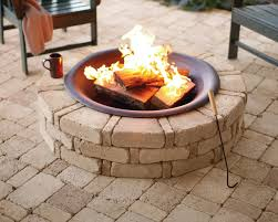 fireplace fire ring lowes fire pit insert lowes rumblestone