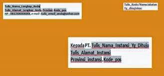 contoh surat lamaran kerja dengan cq cara menulis alamat di amplop