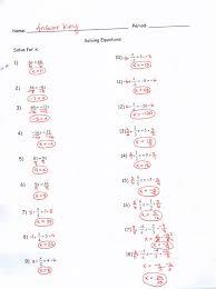 algebra 1 multi step equations worksheet answers tessshlo