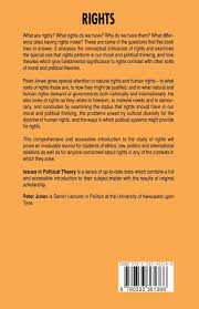 rights issues in political theory amazon co uk peter jones