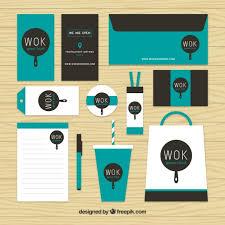 stationary set wok stationery set vector free