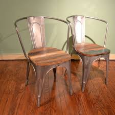Wood And Metal Dining Chairs Best Reclaimed Wood Desk Products On Wanelo