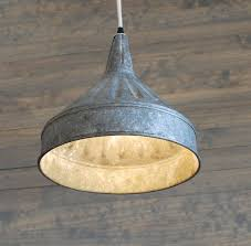 Farmhouse Lighting Pendant Modern Farmhouse Lighting With Galvanized Pendant Funnel Id Lights