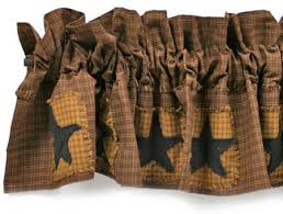 Barn Star Kitchen Decor by Primitive Country Curtains Kl Primitives Country Decor