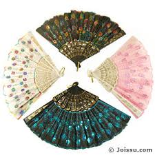 embroidered sequined folding fans wholesale bulk price joissu