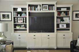 Built In Cabinets Living Room by Honey We U0027re Home Painted Media Cabinet U0026 Bookshelf Styling