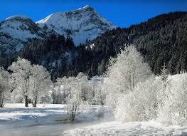 snowy mountain scenic snow