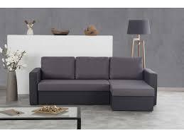 canapé d angle noir et gris canapé d angle convertible et réversible 5 places astra coloris noir