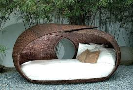chaise lounge replacement cushions round brown wicker patio daybed