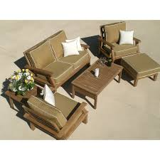 Deep Seat Outdoor Furniture by Royal Teak Miami Reclining Outdoor Loveseat Hayneedle