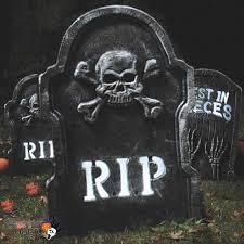 light up flashing tombstone 54cm halloween party garden decoration