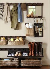 Entryway Wall Storage Not A Fan Of All Open Storage But Note The Place For Keys