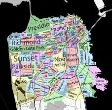 Dc Neighborhood Map Neighborhoods Of San Francisco David Mcclure