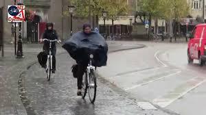 cycling rain gear utrecht netherlands cycling in the rain youtube