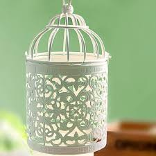 Decorative Bird Cages Wholesale Small Iron Bird Cage Wall Flower Decor Candelabrum Candle Votive