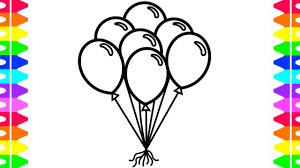 printable coloring pages to learn colors balloons coloring pages learn how to draw and color balloons for