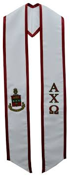 graduation stoles alpha chi omega fraternity sorority graduation stole