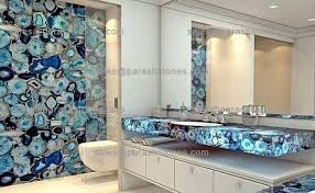 Backsplash In Bathroom Blue Agate Bathroom Wall Backsplash Vanity Top Manufacturer