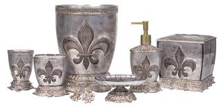 French Decor Bathroom Details About French Flair Luxe Fleur De Lis Bath Accessories