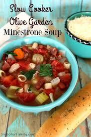 slow cooker olive garden minestrone soup copycat recipe